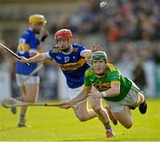 10 October 2021; Paul Shiels of Dunloy in action against Thomas Morgan of O'Donovan Rossa during the Antrim County Senior Club Hurling Championship Final match between Dunloy and O'Donovan Rossa at Corrigan Park in Belfast. Photo by Ramsey Cardy/Sportsfile