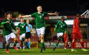 10 October 2021; Mark O'Mahony of Republic of Ireland celebrates after scoring his side's second goal during the UEFA U17 Championship Qualifying Round Group 5 match between Republic of Ireland and North Macedonia at Turner's Cross in Cork. Photo by Eóin Noonan/Sportsfile