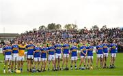 10 October 2021; The O'Donovan Rossa team, from left to right, Déaglan Murphy, Dáire Murphy, Dónal Armstrong, Stephen Shannon, Ciaran Orchin, Seaghan Shannon, Christopher McGuinness, Adrian Kenneally, Aodhán O'Brien, Aidan Orchin, Tiarnán Murphy, Thomas Morgan, Michael Armstrong, Gerard Walsh and Stephen Beatty, before the Antrim County Senior Club Hurling Championship Final match between Dunloy and O'Donovan Rossa at Corrigan Park in Belfast. Photo by Ramsey Cardy/Sportsfile