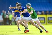 10 October 2021; Aodhán O'Brien of O'Donovan Rossa in action against Conal Cunning of Dunloy during the Antrim County Senior Club Hurling Championship Final match between Dunloy and O'Donovan Rossa at Corrigan Park in Belfast. Photo by Ramsey Cardy/Sportsfile
