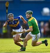 10 October 2021; Paul Shiels of Dunloy in action against Eoin Trainor of O'Donovan Rossa during the Antrim County Senior Club Hurling Championship Final match between Dunloy and O'Donovan Rossa at Corrigan Park in Belfast. Photo by Ramsey Cardy/Sportsfile