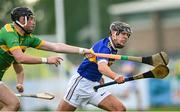 10 October 2021; Eoin Trainor of O'Donovan Rossa in action against Keelan Molloy of Dunloy during the Antrim County Senior Club Hurling Championship Final match between Dunloy and O'Donovan Rossa at Corrigan Park in Belfast. Photo by Ramsey Cardy/Sportsfile