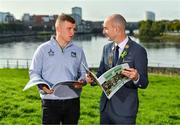 11 October 2021; Limerick hurler Peter Casey, left, and Cllr Daniel Butler, Mayor of the City and County of Limerick, in attendance at the launch of 'Back 2 Back' at Limerick City and County Council offices at Merchants Quay in Limerick. Photo by Diarmuid Greene/Sportsfile
