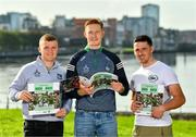11 October 2021; Limerick hurlers, from left, Peter Casey, William O'Donoghue and Darragh O'Donovan in attendance at the launch of 'Back 2 Back' at Limerick City and County Council offices at Merchants Quay in Limerick. Photo by Diarmuid Greene/Sportsfile