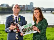11 October 2021; Cllr Daniel Butler, Mayor of the City and County of Limerick, with Laura Ryan, Head of Marketing and Communications with Limerick City and County Council, at the launch of 'Back 2 Back' at Limerick City and County Council offices at Merchants Quay in Limerick. Photo by Diarmuid Greene/Sportsfile