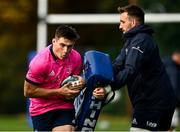 11 October 2021; Dan Sheehan, left, and Jack Conan during a Leinster Rugby squad training session at UCD in Dublin. Photo by Harry Murphy/Sportsfile