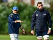 11 October 2021; Backs coach Felipe Contepomi and Jack Conan during a Leinster Rugby squad training session at UCD in Dublin. Photo by Harry Murphy/Sportsfile