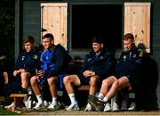 11 October 2021; Leinster players, from left, Garry Ringrose, Jonathan Sexton, Jimmy O'Brien and Ciarán Frawley during a Leinster Rugby squad training session at UCD in Dublin. Photo by Harry Murphy/Sportsfile