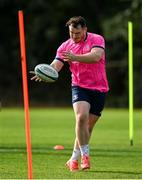 11 October 2021; Peter Dooley during a Leinster Rugby squad training session at UCD in Dublin. Photo by Harry Murphy/Sportsfile
