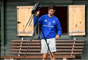 11 October 2021; Athletic Performance Intern Michael O'Driscoll during a Leinster Rugby squad training session at UCD in Dublin. Photo by Harry Murphy/Sportsfile