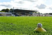 10 October 2021; A general view of a sliotar on the pitch before the Kilkenny County Senior Hurling Championship quarter-final match between James Stephen's and Dicksboro at UPMC Nowlan Park in Kilkenny. Photo by Piaras Ó Mídheach/Sportsfile
