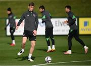 11 October 2021; Nathan Collins during a Republic of Ireland training session at the FAI National Training Centre in Abbotstown, Dublin. Photo by Stephen McCarthy/Sportsfile