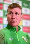11 October 2021; Manager Stephen Kenny during a Republic of Ireland press conference at the FAI Headquarters in Abbotstown, Dublin. Photo by Stephen McCarthy/Sportsfile