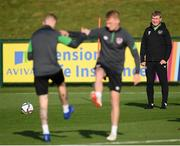 11 October 2021; Manager Stephen Kenny during a Republic of Ireland training session at the FAI National Training Centre in Abbotstown, Dublin. Photo by Stephen McCarthy/Sportsfile