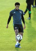 11 October 2021; Andrew Omobamidele during a Republic of Ireland training session at the FAI National Training Centre in Abbotstown, Dublin. Photo by Stephen McCarthy/Sportsfile