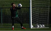 11 October 2021; Goalkeeper Mark Travers during a Republic of Ireland training session at the FAI National Training Centre in Abbotstown, Dublin. Photo by Stephen McCarthy/Sportsfile
