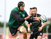 12 October 2021; Ultan Dillane in action during a Connacht rugby squad training at The Sportsground in Galway. Photo by Matt Browne/Sportsfile