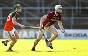 10 October 2021; Timmy Clifford of Dicksboro in action against Andy Parsons of James Stephen's during the Kilkenny County Senior Hurling Championship quarter-final match between James Stephen's and Dicksboro at UPMC Nowlan Park in Kilkenny. Photo by Piaras Ó Mídheach/Sportsfile