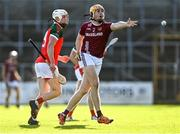 10 October 2021; Oisín Gough of Dicksboro in action against Conor Browne of James Stephen's during the Kilkenny County Senior Hurling Championship quarter-final match between James Stephen's and Dicksboro at UPMC Nowlan Park in Kilkenny. Photo by Piaras Ó Mídheach/Sportsfile