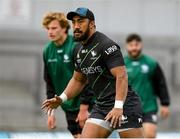 12 October 2021; Bundee Aki during a Connacht rugby squad training at The Sportsground in Galway. Photo by Matt Browne/Sportsfile