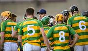 10 October 2021; Bennettsbridge selector Willie Maher speaks to his players during a water break during the Kilkenny County Senior Hurling Championship quarter-final match between Bennettsbridge and Ballyhale Shamrocks at UPMC Nowlan Park in Kilkenny. Photo by Piaras Ó Mídheach/Sportsfile