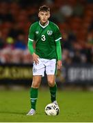 10 October 2021; Luke O'Brien of Republic of Ireland during the UEFA U17 Championship Qualifying Round Group 5 match between Republic of Ireland and North Macedonia at Turner's Cross in Cork. Photo by Eóin Noonan/Sportsfile