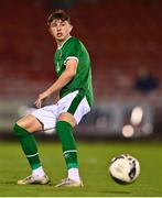 10 October 2021; Rocco Vata of Republic of Ireland during the UEFA U17 Championship Qualifying Round Group 5 match between Republic of Ireland and North Macedonia at Turner's Cross in Cork. Photo by Eóin Noonan/Sportsfile