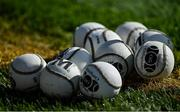 10 October 2021; A general view of sliotars during the Cork County Senior Club Hurling Championship Round 3 match between Blackrock and St Finbarr's at Pairc Ui Chaoimh in Cork. Photo by Brendan Moran/Sportsfile