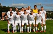 10 October 2021; Poland team before the UEFA U17 Championship Qualifying Round Group 5 match between Poland and Andorra at The Mardyke in Cork. Photo by Eóin Noonan/Sportsfile