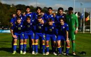 10 October 2021; Andorra team before the UEFA U17 Championship Qualifying Round Group 5 match between Poland and Andorra at The Mardyke in Cork. Photo by Eóin Noonan/Sportsfile