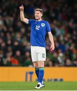 12 October 2021; Nathan Collins of Republic of Ireland during the international friendly match between Republic of Ireland and Qatar at Aviva Stadium in Dublin. Photo by Stephen McCarthy/Sportsfile