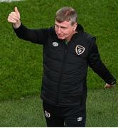 12 October 2021; Republic of Ireland manager Stephen Kenny during the international friendly match between Republic of Ireland and Qatar at Aviva Stadium in Dublin. Photo by Seb Daly/Sportsfile