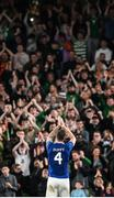 12 October 2021; Republic of Ireland captain Shane Duffy applauds supporters on being substituted during the international friendly match between Republic of Ireland and Qatar at Aviva Stadium in Dublin. Photo by Stephen McCarthy/Sportsfile