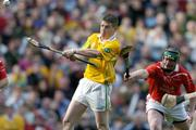 17 March 2004; Liam Richmond, Dunloy, in action against Philip Noonan, Newtownshandrum. AIB All-Ireland Club Hurling Final, Newtownshandrum v Dunloy, Croke Park, Dublin, Picture credit; Brendan Moran / SPORTSFILE   *EDI*