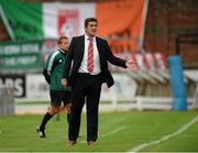 25 July 2013; Derry City manager Declan Devine. UEFA Europa League Second Qualifying Round, 2nd leg, Derry City v Trabzonspor, The Brandywell, Derry. Picture credit: Oliver McVeigh / SPORTSFILE
