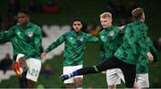 12 October 2021; Andrew Omobamidele of Republic of Ireland before the international friendly match between Republic of Ireland and Qatar at Aviva Stadium in Dublin. Photo by Stephen McCarthy/Sportsfile