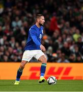 12 October 2021; Conor Hourihane of Republic of Ireland during the international friendly match between Republic of Ireland and Qatar at Aviva Stadium in Dublin. Photo by Sam Barnes/Sportsfile