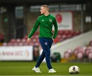 13 October 2021; Republic of Ireland captain Cathal Heffernan before the UEFA U17 Championship Qualifying Round Group 5 match between Republic of Ireland and Poland at Turner's Cross in Cork. Photo by Eóin Noonan/Sportsfile
