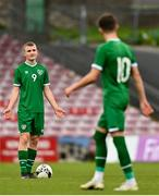 13 October 2021; Mark O'Mahony of Republic of Ireland reacts after his side concede their second goal during the UEFA U17 Championship Qualifying Round Group 5 match between Republic of Ireland and Poland at Turner's Cross in Cork. Photo by Eóin Noonan/Sportsfile