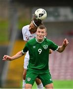 13 October 2021; Mark O'Mahony of Republic of Ireland in action against Milosz Kurzydlowski of Poland during the UEFA U17 Championship Qualifying Round Group 5 match between Republic of Ireland and Poland at Turner's Cross in Cork. Photo by Eóin Noonan/Sportsfile