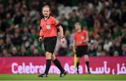 12 October 2021; Referee Keith Kennedy during the international friendly match between Republic of Ireland and Qatar at Aviva Stadium in Dublin. Photo by Stephen McCarthy/Sportsfile