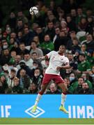 12 October 2021; Pedro Miguel of Qatar during the international friendly match between Republic of Ireland and Qatar at Aviva Stadium in Dublin. Photo by Stephen McCarthy/Sportsfile