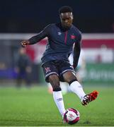 8 October 2021; Ebuka Kwelele of Dundalk before the SSE Airtricity League Premier Division match between Dundalk and Shamrock Rovers at Oriel Park in Dundalk, Louth. Photo by Ben McShane/Sportsfile