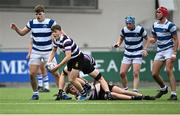 13 October 2021; Louis Moran of Terenure College during the Bank of Ireland Leinster Schools Junior Cup semi-final match between Blackrock College and Terenure College at Energia Park in Dublin. Photo by Piaras Ó Mídheach/Sportsfile
