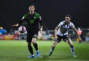 8 October 2021; Ronan Finn of Shamrock Rovers and Michael Duffy of Dundalk during the SSE Airtricity League Premier Division match between Dundalk and Shamrock Rovers at Oriel Park in Dundalk, Louth. Photo by Ben McShane/Sportsfile