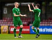 13 October 2021; Cathal Heffernan of Republic of Ireland with team-mate James McManus after the UEFA U17 Championship Qualifying Round Group 5 match between Republic of Ireland and Poland at Turner's Cross in Cork. Photo by Eóin Noonan/Sportsfile