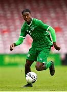 13 October 2021; Franco Umeh of Republic of Ireland during the UEFA U17 Championship Qualifying Round Group 5 match between Republic of Ireland and Poland at Turner's Cross in Cork. Photo by Eóin Noonan/Sportsfile
