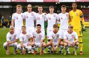 13 October 2021; Poland team before the UEFA U17 Championship Qualifying Round Group 5 match between Republic of Ireland and Poland at Turner's Cross in Cork. Photo by Eóin Noonan/Sportsfile