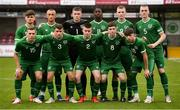 13 October 2021; Republic of Ireland team before the UEFA U17 Championship Qualifying Round Group 5 match between Republic of Ireland and Poland at Turner's Cross in Cork. Photo by Eóin Noonan/Sportsfile