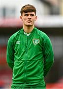 13 October 2021; Kevin Zefi of Republic of Ireland during the UEFA U17 Championship Qualifying Round Group 5 match between Republic of Ireland and Poland at Turner's Cross in Cork. Photo by Eóin Noonan/Sportsfile